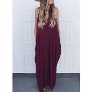 Dresses & Skirts - JUST IN!💕⭐️ Burgundy Cocoon Maxi w Pockets!